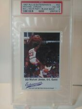 1987 michael jordan bulls entenmann's ball near feet-blank back psa 4 #23