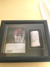 Framed Roger Federer Custom Nike Match Worn Australian Open 2010 Wristband COA