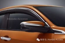 GENUINE OEM CHROME SUN WINDOW DOOR VISOR FOR HONDA CIVIC SEDAN HATCH 2016 2017
