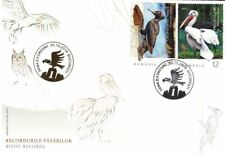 Rumania 2018 Birds - Black Woodpecker - Dalmatian Pelican - owl - eagle (fdc)