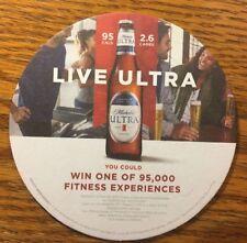 "Lot of 12 Pub / Bar / Beer Coaster ~ A-B MICHELOB ULTRA ""LIVE ULTRA"" Fast Ship!"