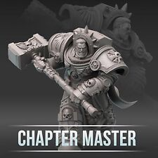 "28mm wargame and collectible miniature, Chapter Master by ""W"" Artel"