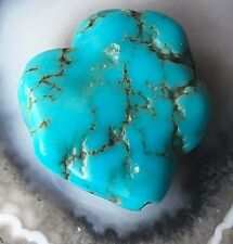 SLEEPING BEAUTY LARGE BLUE TURQUOISE NUGGET PENDANT 22mm 23ct Organic Tribal