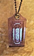 COACH acrylic purple with gold glitter X Large hang tag with chain