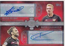 2016/17 Topps UEFA Champions League Dual Auto Calhanoglu Brandt Leverkusen 09/15