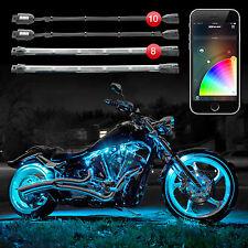 XKGLOW 10 Pod 8 Strip XKchrome Smartphone Motorcycle Advanced LED Light Kit