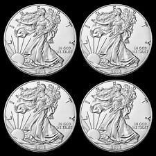 (4) 2016 1 Troy oz .999 Fine Silver American Eagle $1 BU Coins from Mint Roll 2