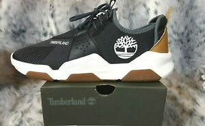 NEW TIMBERLAND EARTH RALLY OXFORD MEN'S BLACK KNIT TRAINERS SIZE UK 8.5 RRP £90
