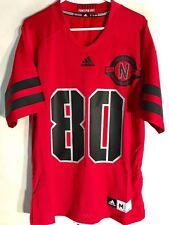 Adidas NCAA Jersey Nebraska Huskers #80 Red Lim Edit sz M