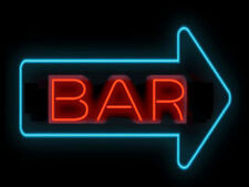 "New Bar Arrow Live Nudes  Beer Bar Pub Neon Light Sign 17""x14"""
