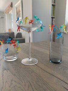 Cocktail Decorations/ Glass Hangers.  Plastic Monkey, Mermaid, Donkey x24 NEW