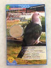 (JC) Malaysia Bird Coin Card no 11 - Pergam Besar 2005