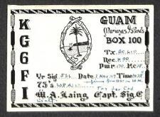 USA SCOTT #804 PREXY STAMP U.S. ARMY MARIANAS GUAM QSL HAM RADIO POSTCARD 1949