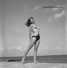 Bunny Yeager 50s Pin-up Camera Negative Photograph Bathing Beauty Dolly Murcia