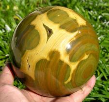 "110 mm (4.35"") Gorgeous Large Ocean Agate Sea Jasper Crystal Sphere Geode Ball"