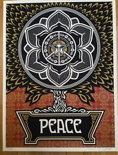 Shepard Fairey PEACE TREE GOLD s/n 2007 Absolutely Mint Holiday print  OBEY