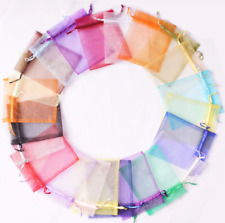 50 psc 7*9cm Sheer  Organza Favor Gift Jewelry Pouches Wedding Party