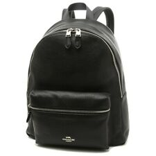 New! Coach Black Pebble Large Leather Shoulder Charlie Backpack Bag F29004