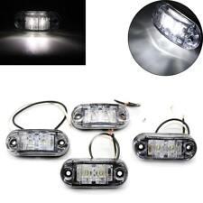 DEL 4PCS White Front Side Marker Lumière Indicateur Auto Camion Remorques 12/24v Lampe