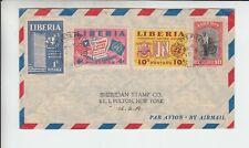 Liberia # 288 338-40 Cover to NY Fauna Monkey
