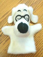 Vintage Mr Peabody (& Sherman) Plush Puppet from Rocky & Bullwinkle Show