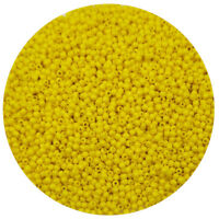 Lot of 2500pcs DIY 11/0 Rocaille 1.8mm Small Round Glass Seed Beads yellow