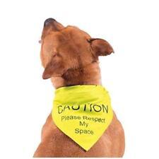 Ancol Hi Vis Warning Dog Bandana For Nervous Elderly Shy Dogs Puppy