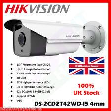 HIKVISION DS-2CD2T42WD-I5 4MP 1080P ONVIF WDR 50M IR POE BULLET IP CCTV CAMERA