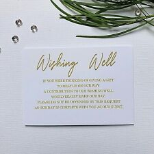 White Wishing Well Cards  - Simple Wishing Well Request for Wedding Invitations