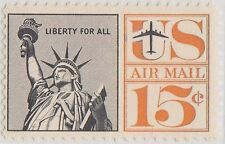(UST-167) 1959 USA 15c statue of liberty air mail (H)