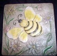 """Gostatue plaster, cement abs plastic bee tile mould 10"""" x 10"""" x 1/3"""" thick"""