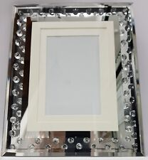 Picture Photo Frame Sparkly Floating Crystal Silver Mirrored 4x6 or 5x7 or 6x8