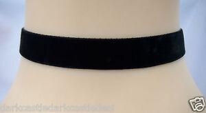 16mm plain classic black red Purple velvet choker necklace collar gothic vintage