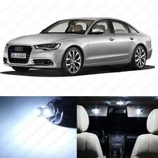 9 x Error Free White LED Interior Light Package For 2012 and Up Audi A6 S6 C7