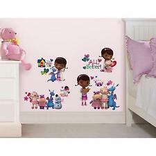 DISNEY DOC MCSTUFFINS wall sticker 30 decals Chilly Stuffy Lambie scrapbook