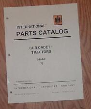 CUB CADET 73 TRACTOR & ENGINE ILLUSTRATED PARTS LIST MANUAL