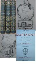 Marivaux La vie de Marianne  1/2 chagrin ed Jouaust