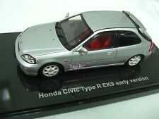 1/43 EBBRO Model #44837 Honda Civic Type-R EK9 early Version Silver【Sky-RC】