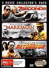 7 Seconds / The Marksman / The Detonator - Action / Thriller - NEW DVD