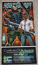 YOUNGBLOOD 8 OBAMA W GUN EMERALD CITY COMIC CON TAN VARIANT LIEFELD SIGNED COA