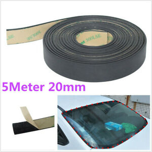 5M 20mm Universal Car Windshield Sunproof Triangular Sealing Rubber Strip Trim