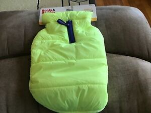 BOOTS AND BARKLEY bright Yellow Dog Puffer Jacket Vest Large size Small Boston T