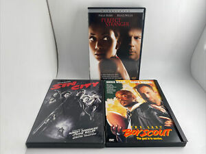Lot Of 3 Perfect Stranger & Sin City & The Last Boyscout Bruce Willis DVD MINT