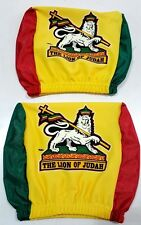 LION OF JUDAH CAR SEAT HEAD REST COVERS