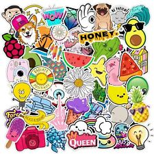 50 pcs Cute Stickers Girls Kids Bright Summer Cartoon Decal Phone Board School
