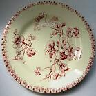 Assiette Art Nouveau Terre de Fer GIEN, modèle en rose, Les CAPUCINES