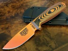 ESEE Knives 3 Orange Blade Orange/Black G10 3D Handle Black Sheath 3PMOR-006