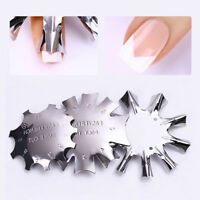3 Style Stainless Steel Mold French Manicure Templates Easy French Tips Nail Art