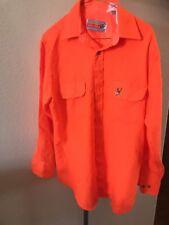 0f0f4d3281507 Vintage Mens WINCHESTER Buck Hunting Orange Button down Shirt Sz Large M