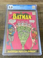 BATMAN #171 CGC 2.5 1ST SILVER AGE APPEARANCE OF THE RIDDLER 1965